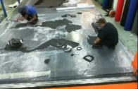 Production for England Rugby: Artificial Grass Logo Mat from Evergreensuk.com