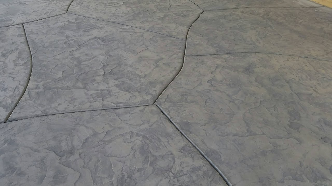 Decorative Stamped Concrete Installation Time Lapse Video